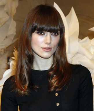 brown hair fringe. Blunt Heavy Bangs/Fringe NYC