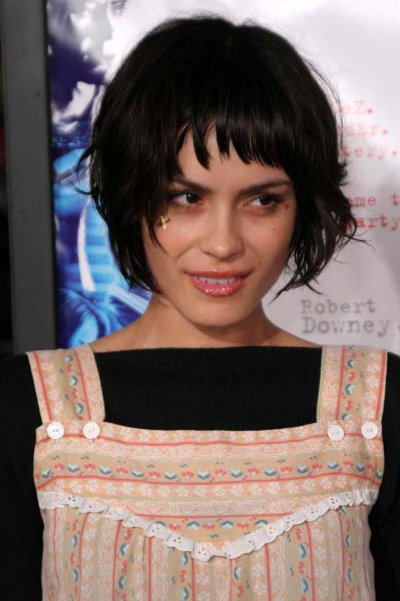 Choppy Bob Haircut Layered Bangs - Katie Holms