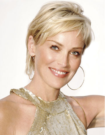 Short NYC Blonde haircuts for women - Sharon Stone